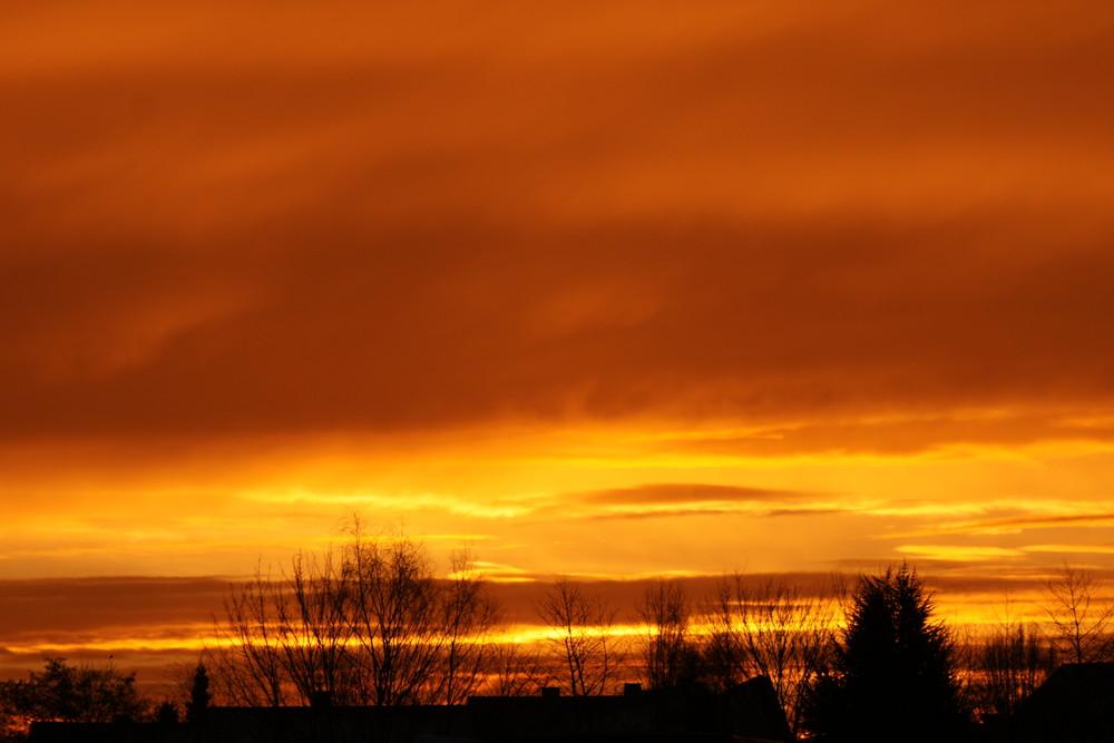 Sonnenaufgang über Neuhäusel