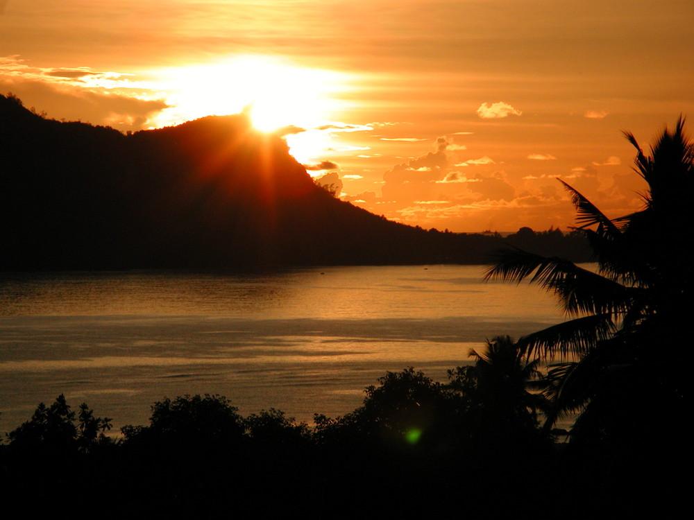 Sonnenaufgang über Sainte Anne Island