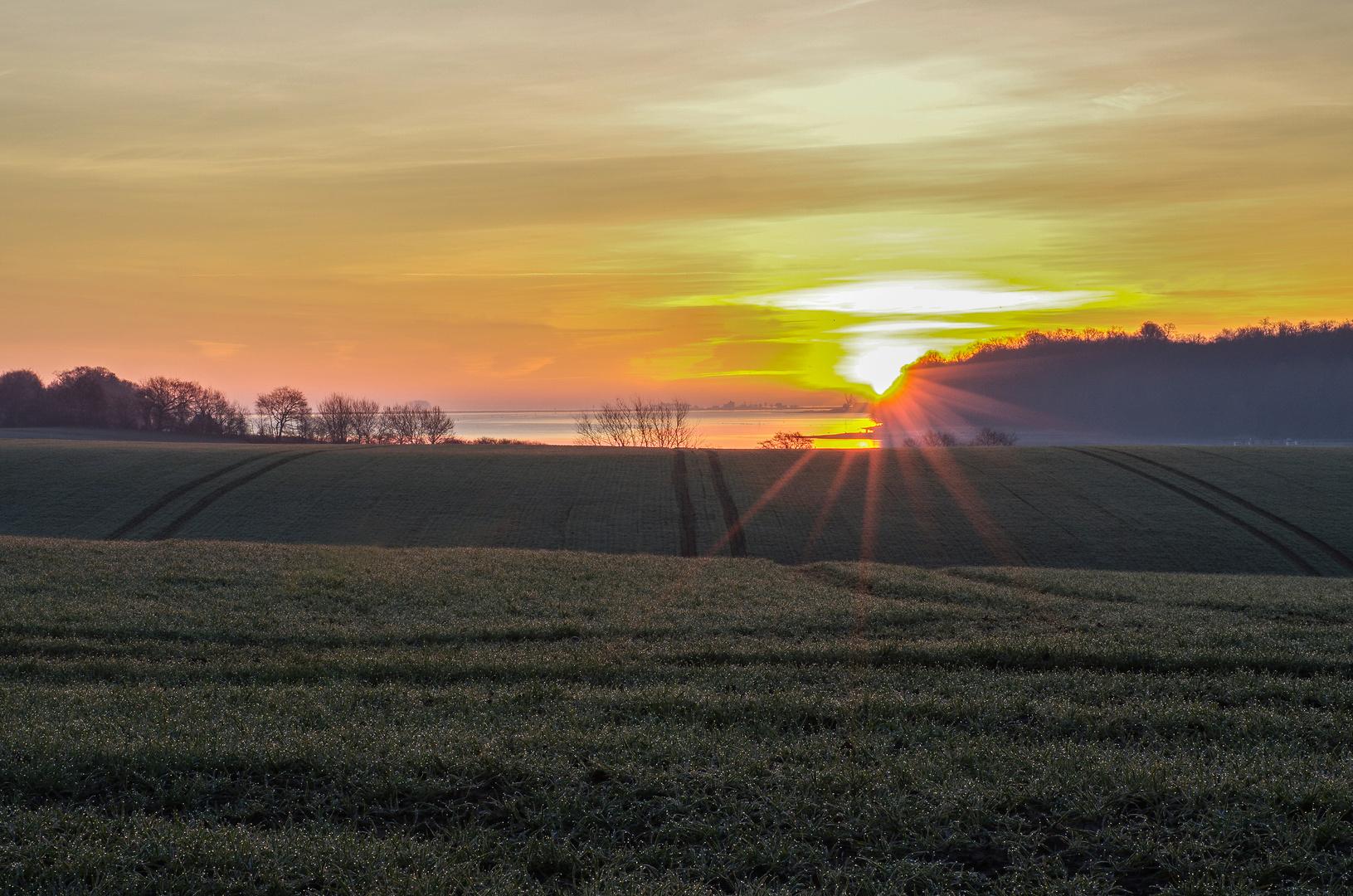 Sonnenaufgang über Schleimünde