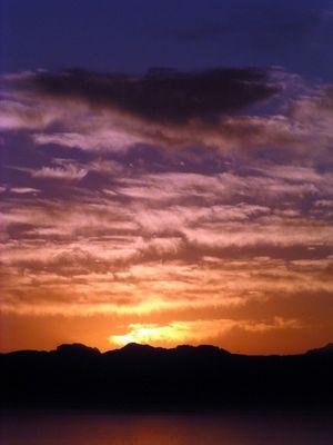 Sonnenaufgang über Simonstown