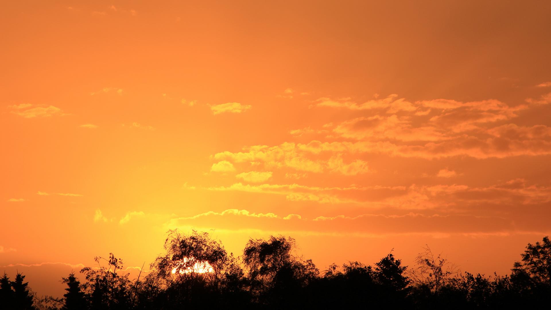 Sonnenaufgang über Skovmose