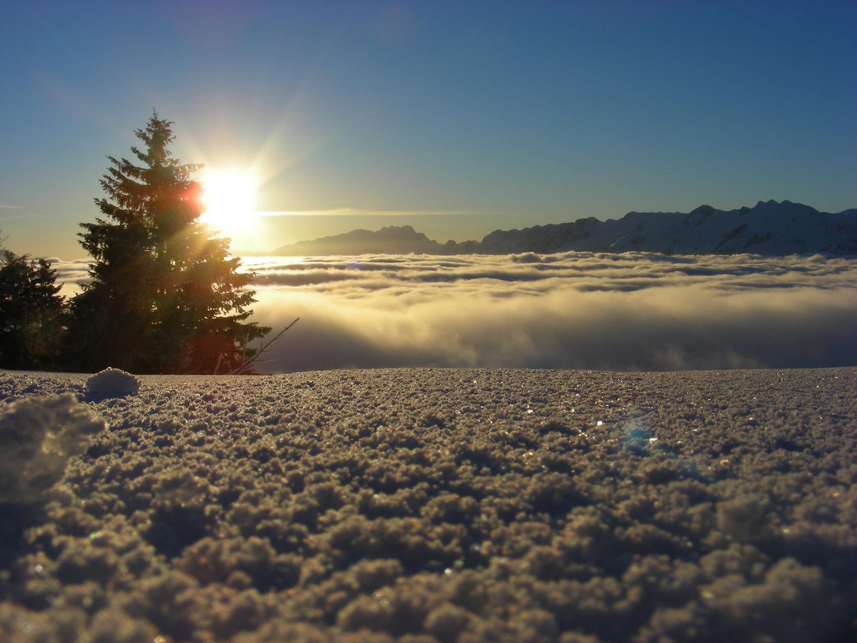 Sonnenaufgang überm Nebelmeer