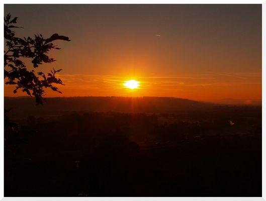 Sonnenaufgang überm Siegtal