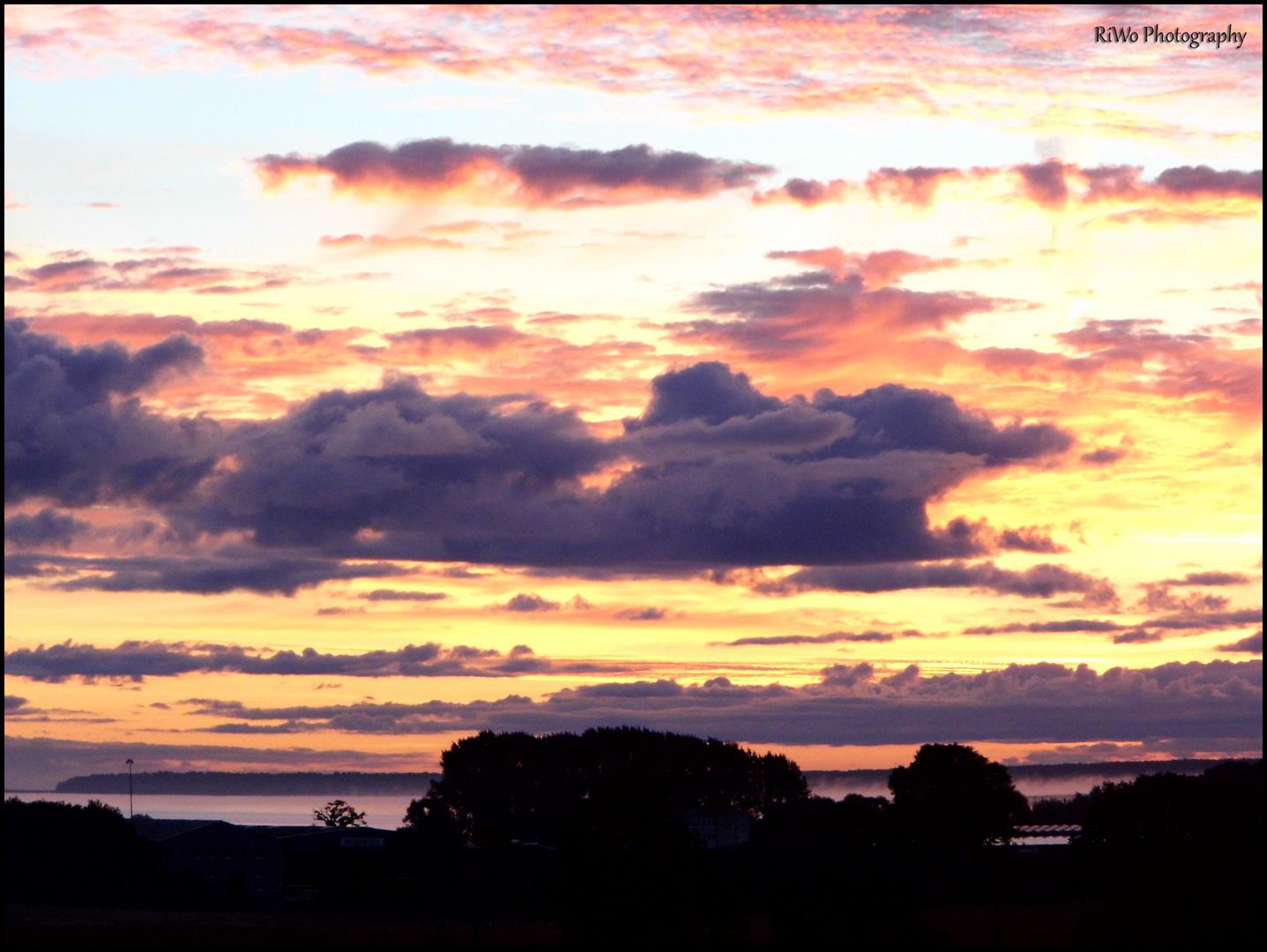 Sonnenaufgang übers Stettiner Haff