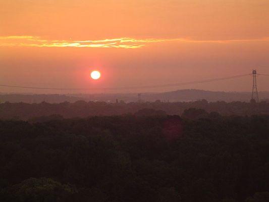 Sonnenaufgang üder dem Tierpark Berlin