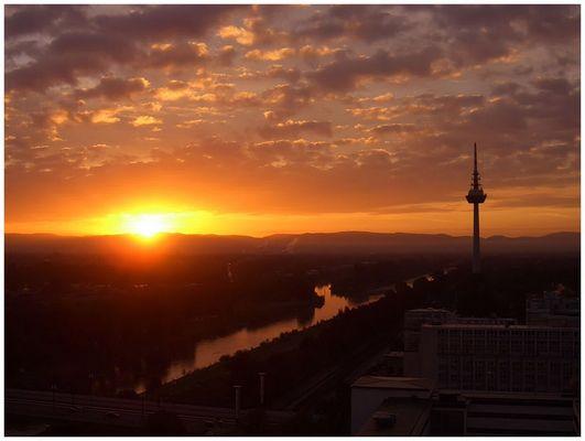 Sonnenaufgang um Uhr 7:17
