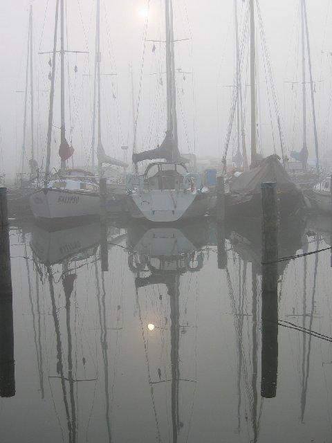 Sonnenaufgang und Nebel