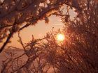 Sonnenaufgang und Schönheit des Winters