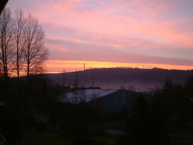 Sonnenaufgang vor der Haustür