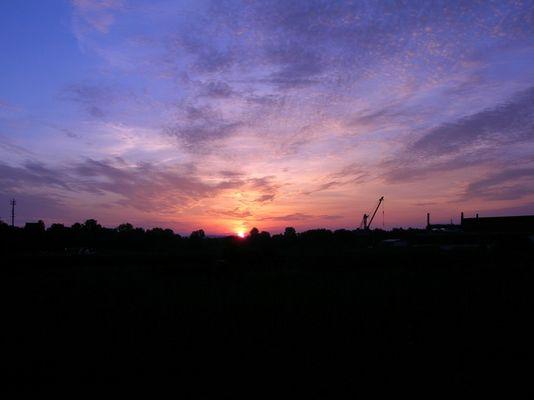 Sonnenaufgang vor Hamburg