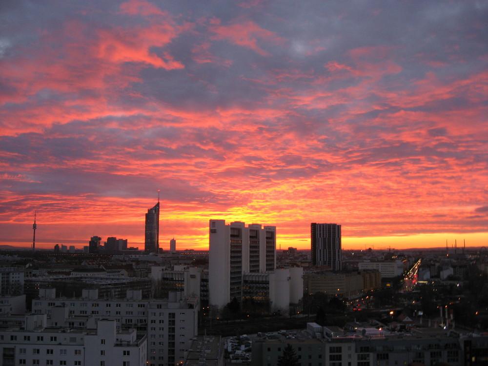 Sonnenaufgang vor meinem Fenster