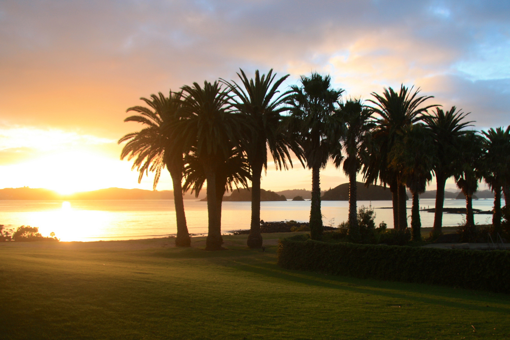 Sonnenaufgang, Waitangi, Neuseeland