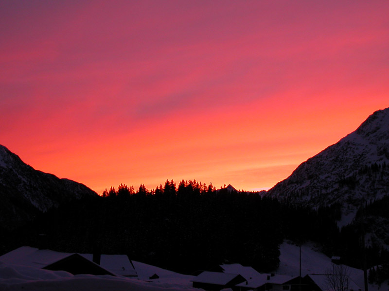 Sonnenaufgang Warth am Arlberg