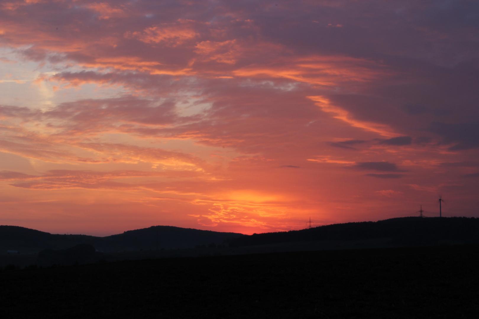 Sonnenaufgang zum Herbstanfang