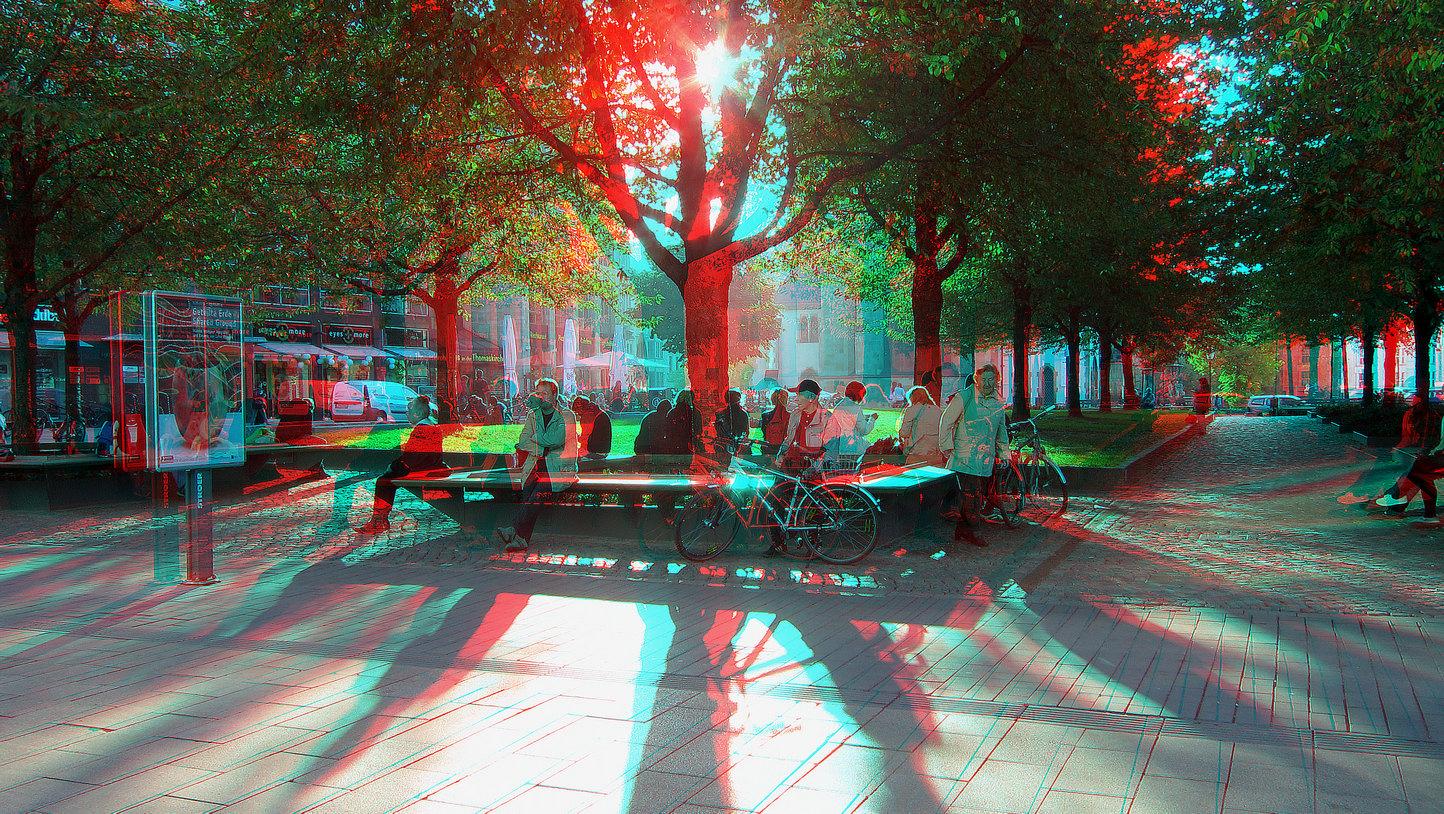Sonnenbad (3D-Foto)