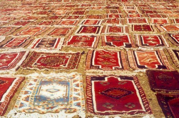 Sonnenbad der Teppiche