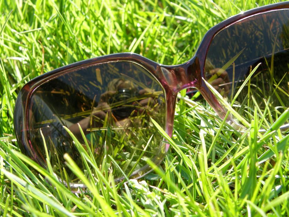 sonnenbrille mit selbstportrait