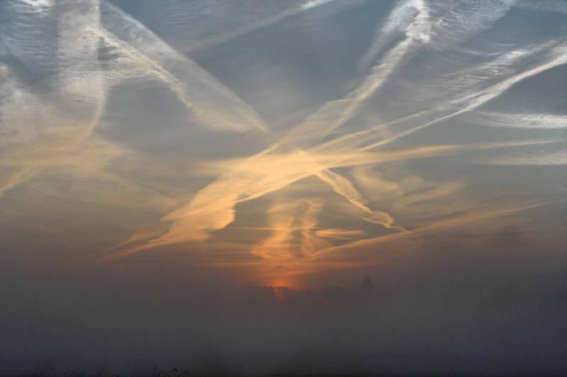 Sonne,Nebel und Kälte