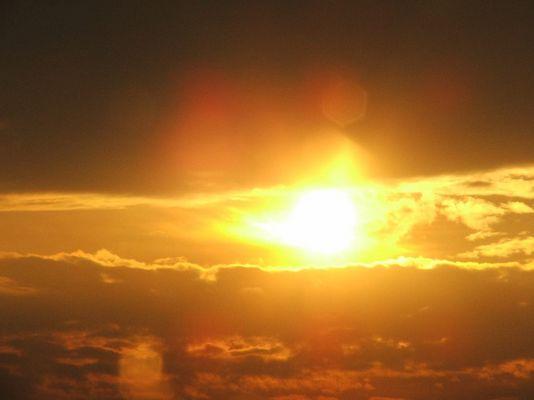 Sonneneuntergang auf der Autobahn 2