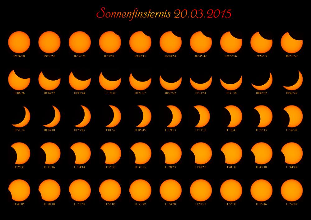 Sonnenfinsternis 20.03.2015 - im Ganzen