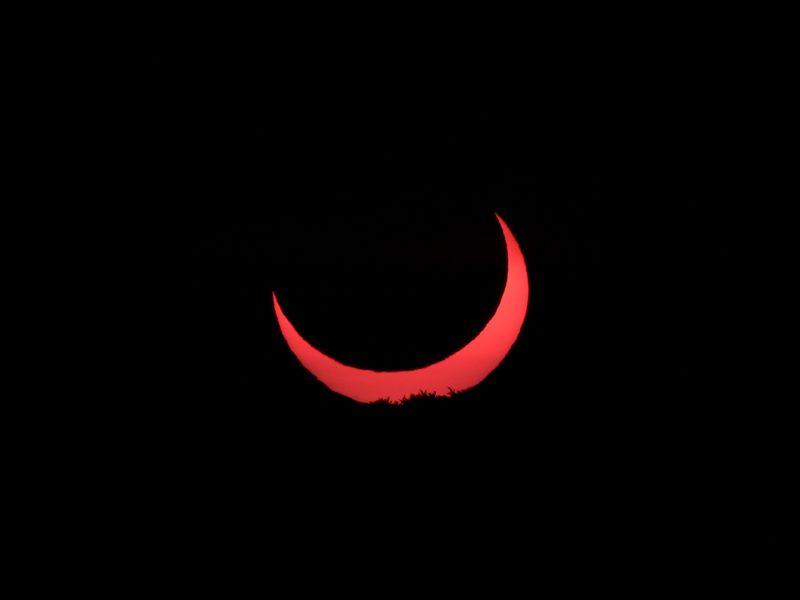 Sonnenfinsternisaufgang am 31.5.2003