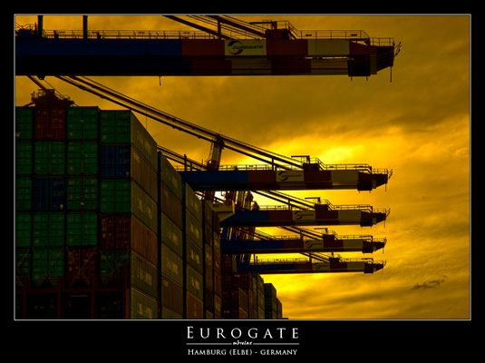 Sonnenglühen am Eurogate (Waltershofer Hafen)