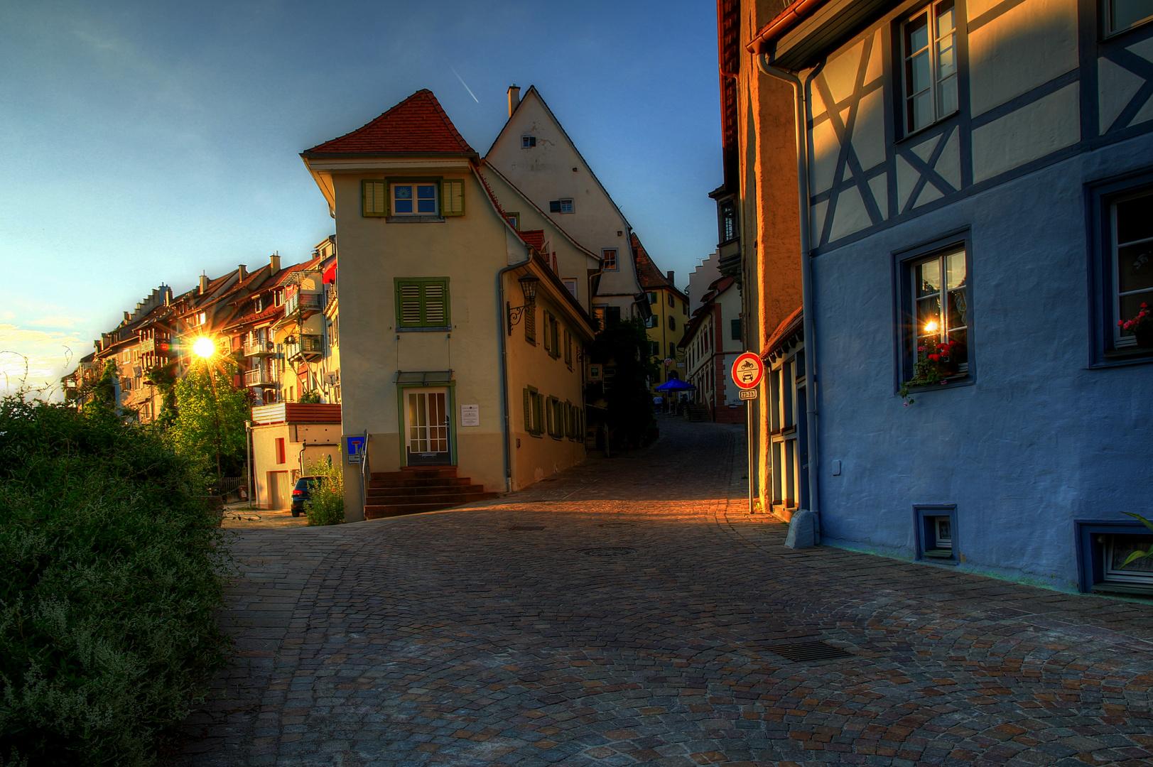 Sonnenreflexionen in der Altstadt