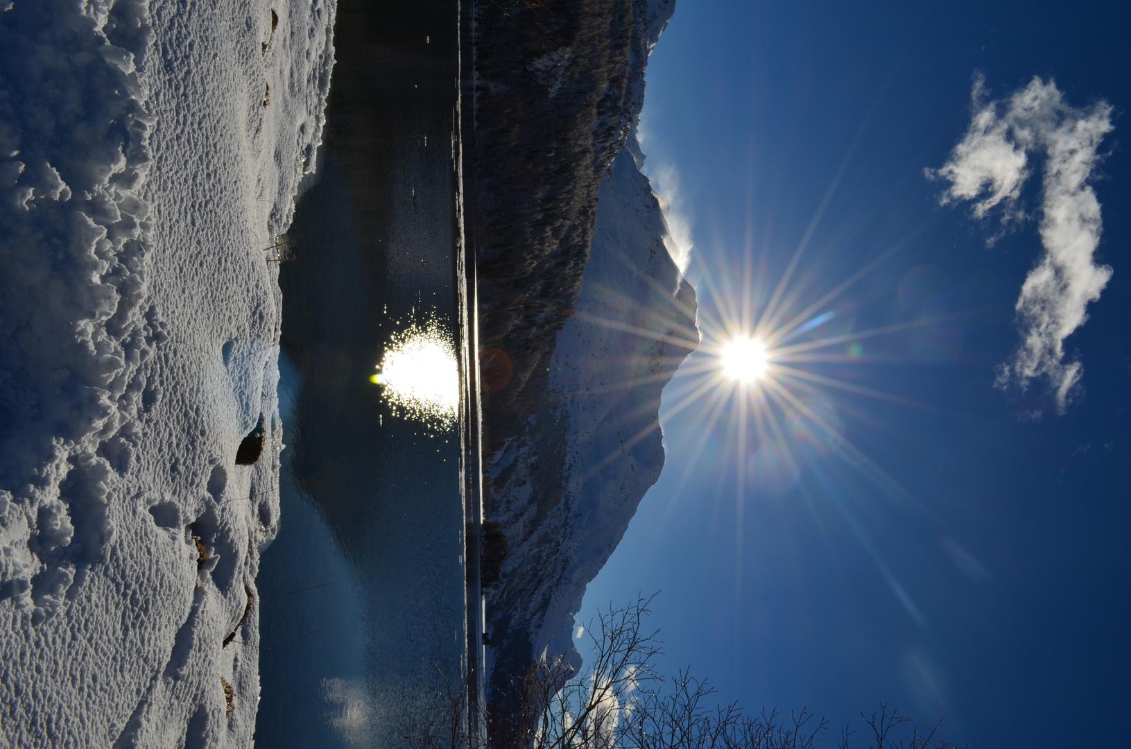Sonnenschein am Silsersee