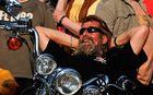 Sonnenschein geniessen vor der Harley-Party