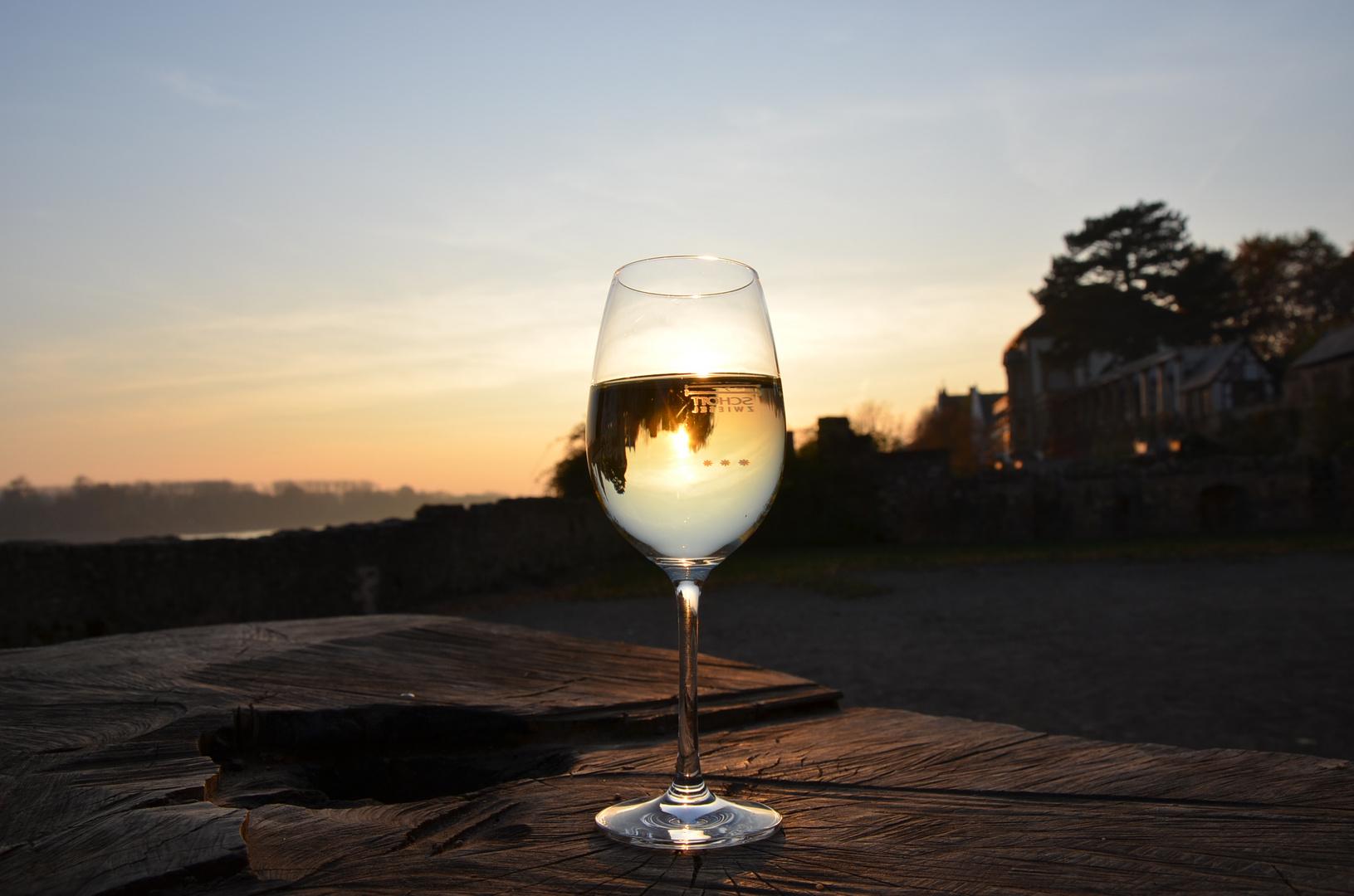 Sonnenschein im Glas eingefangen