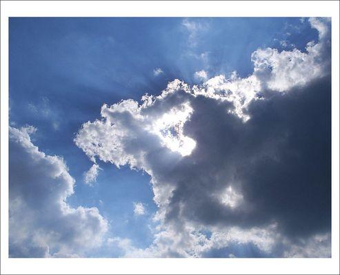 Sonnenschein trotz Wolkenhimmel
