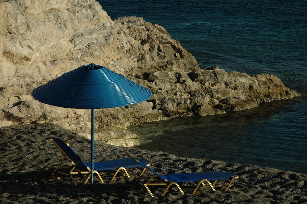 Sonnenschirm mit 2 Liegen