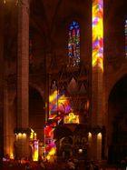Sonnenstrahlen auf der Orgel