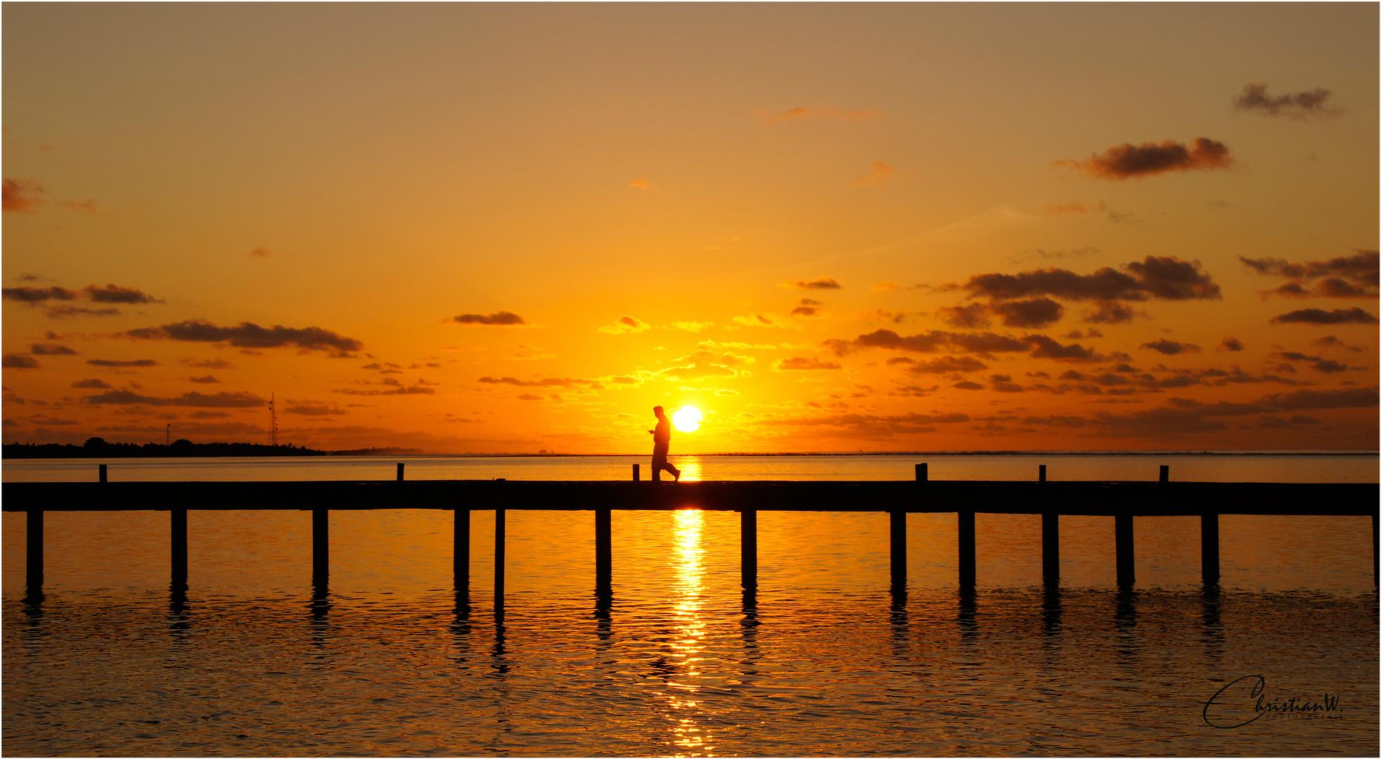 Sonnenstrahlen in ihrer Perfektion (Malediven)