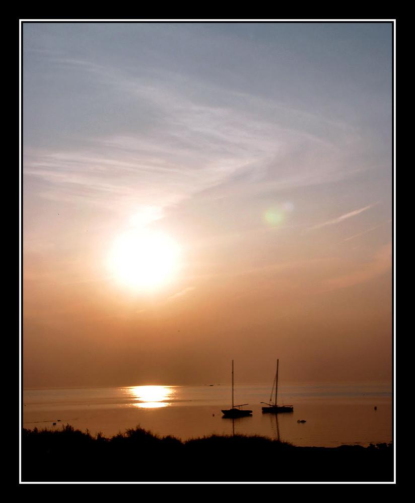 Sonnenuntegang auf Fehmarn