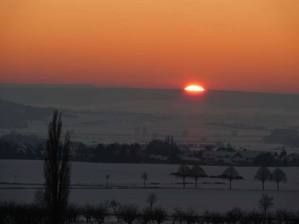 Sonnenuntegang im Winter