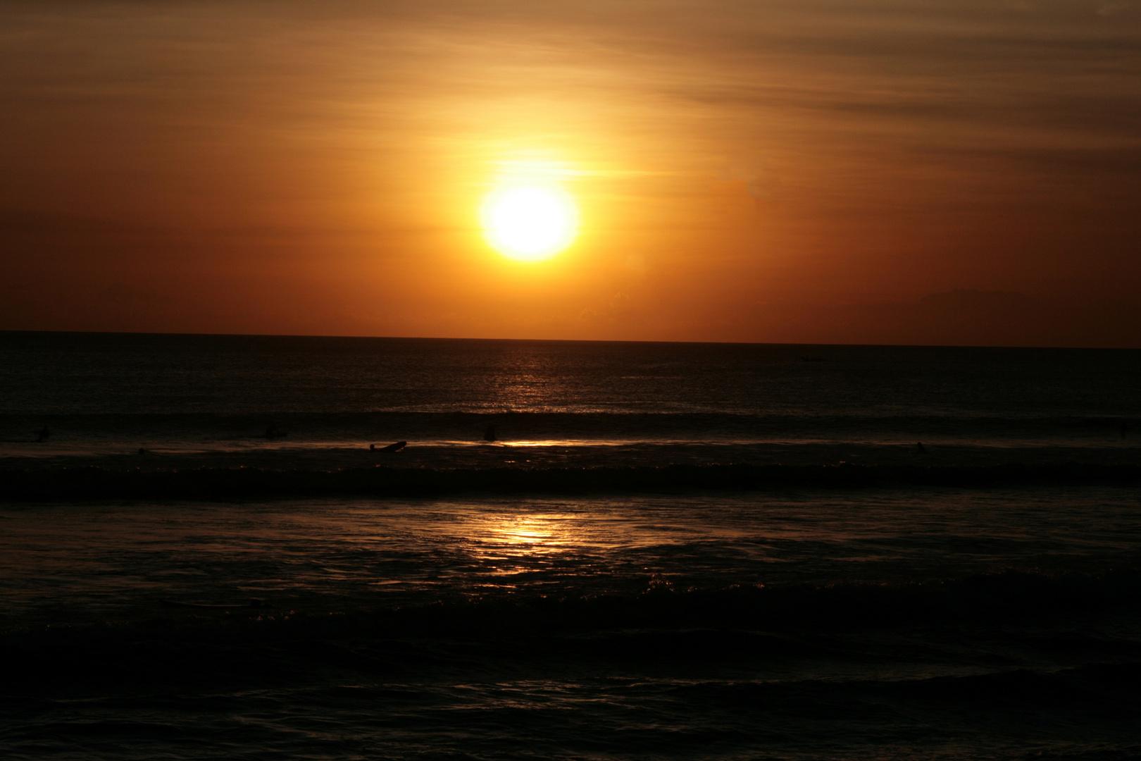 Sonnenuntegang Kuta / Bali