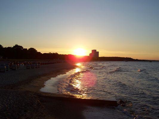 Sonnenunter- gang am Timmendorfer Strand