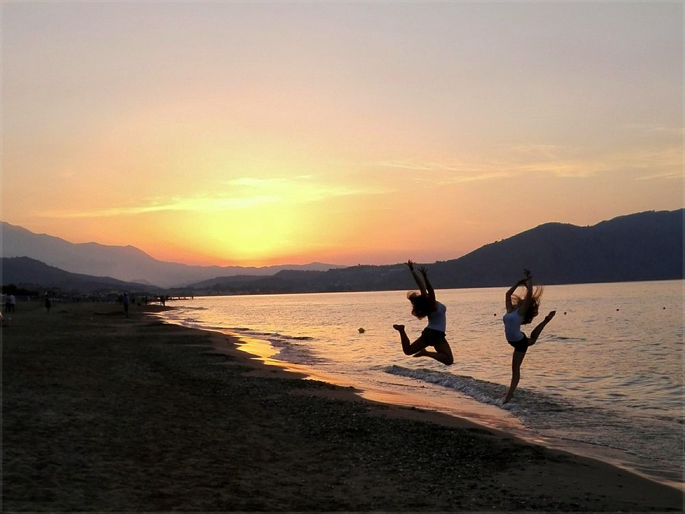 Sonnenuntergänge am Meer ....