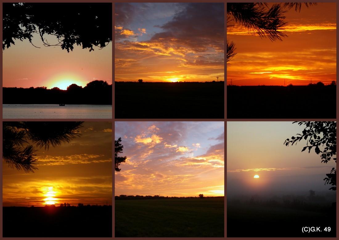Sonnenuntergänge zusammen gestellt als Collage !