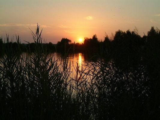 Sonnenuntergan am Badesee