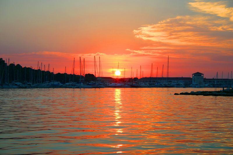 Sonnenuntergan in Kroatien
