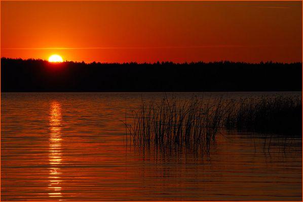 Sonnenuntergan in Masuren
