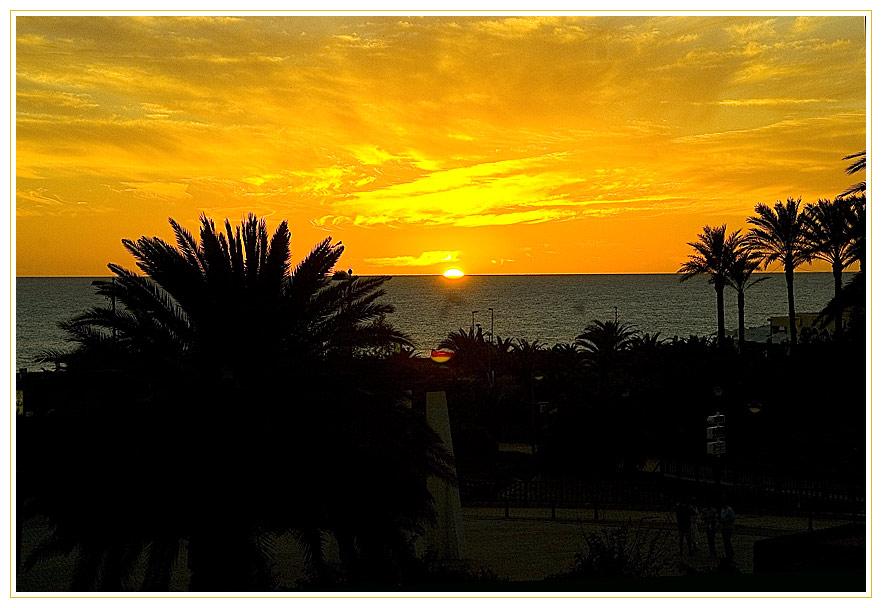 Sonnenuntergand in Maspalomas am Atlantik