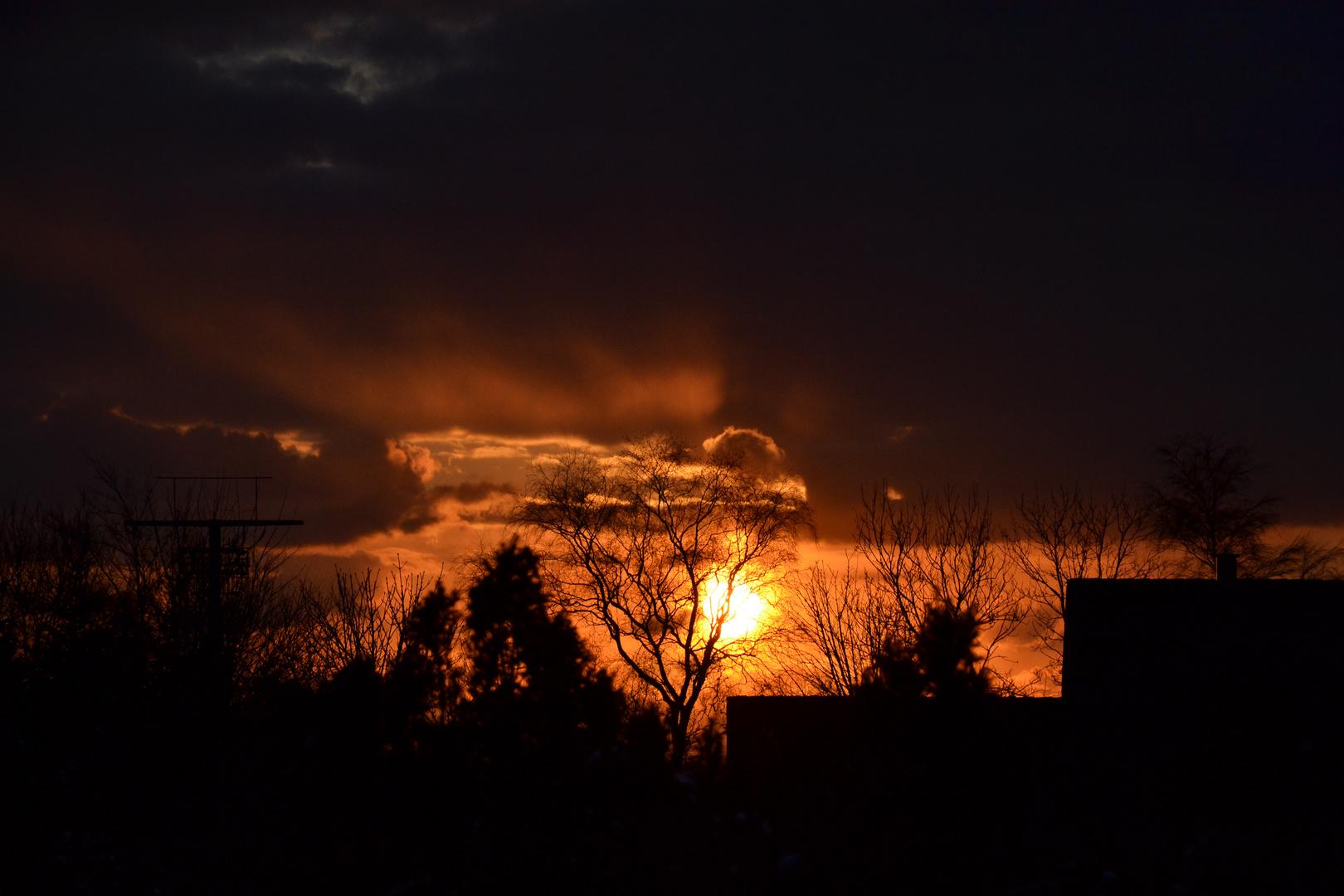 Sonnenuntergang..