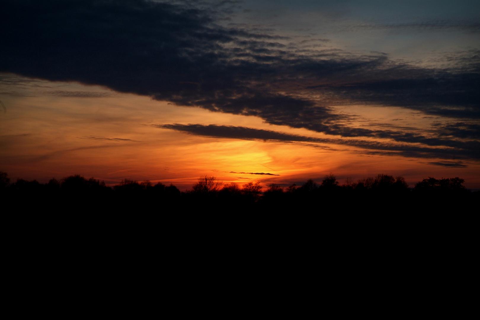 Sonnenuntergang; 06.März 2013; 18:30 Uhr; Bad Zwischenahn