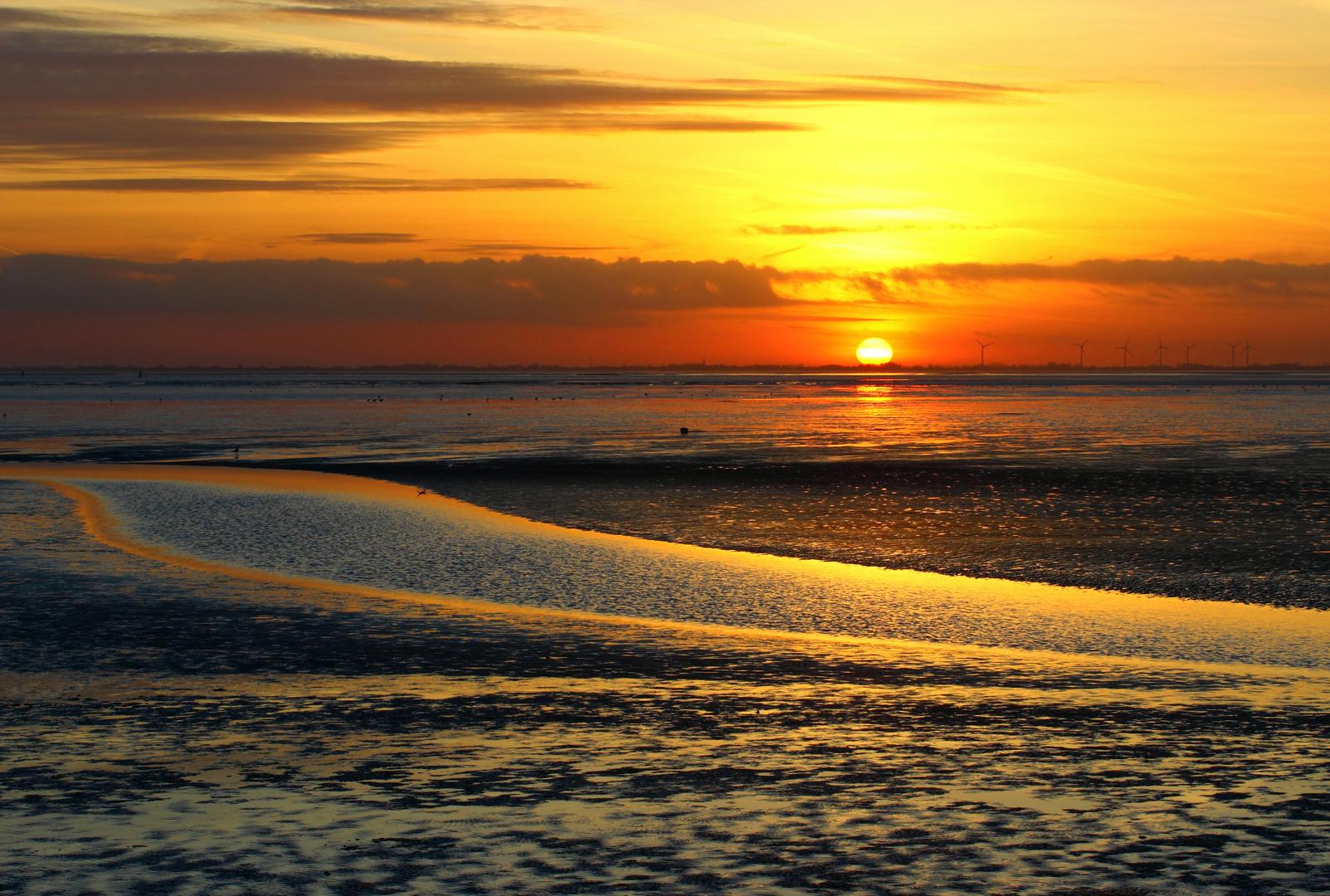 Sonnenuntergang 12.01.2014