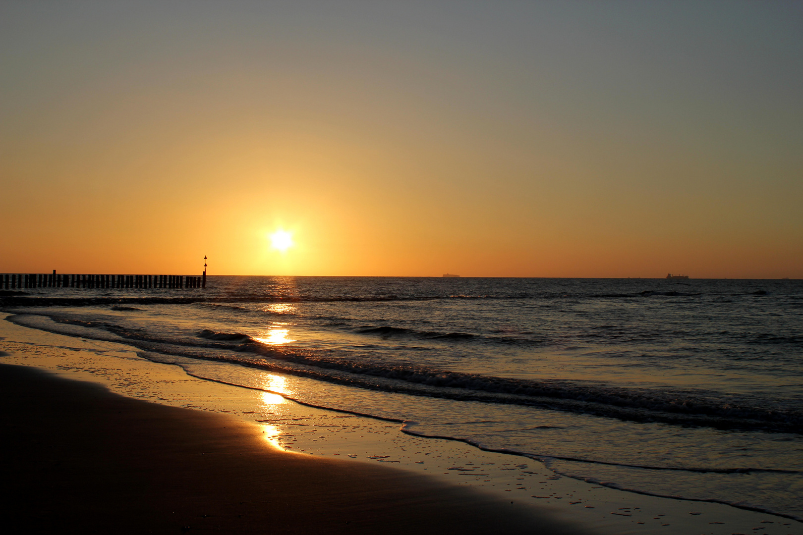 Sonnenuntergang 2 auf Wangerooge