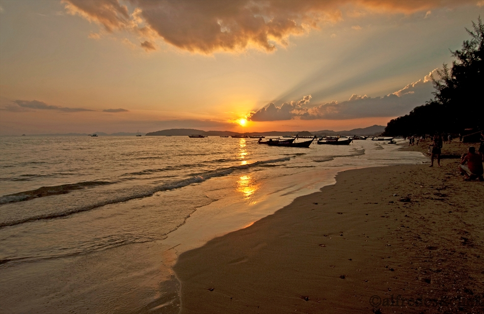 Sonnenuntergang 2 Krabi/Strand