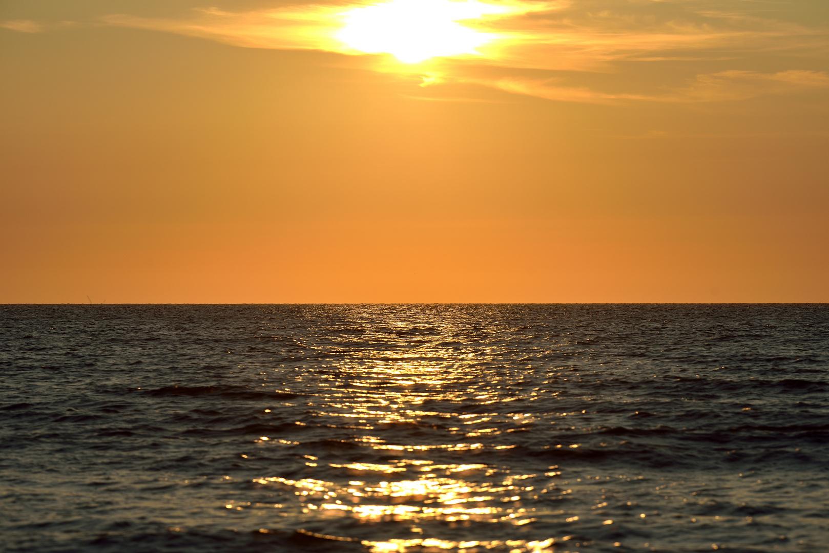 Sonnenuntergang 2 Texel - Juli 2013
